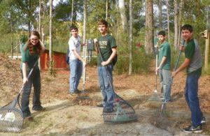 raking crew